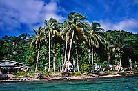 Houses on the shoreline at Gizo, Solomon Islands