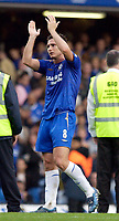 Photo: Daniel Hambury.<br />Chelsea v Blackburn Rovers. The Barclays Premiership.<br />29/10/2005.<br />Chelsea's man of the match Frank Lampard applauds the fans at the end of the match.