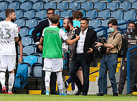 Leeds United owner Andrea Radrizzani congratulates his players after the match<br /> <br /> Photographer Alex Dodd/CameraSport<br /> <br /> The EFL Sky Bet Championship - Leeds United v Barnsley - Thursday 16th July 2020 - Elland Road - Leeds<br /> <br /> World Copyright © 2020 CameraSport. All rights reserved. 43 Linden Ave. Countesthorpe. Leicester. England. LE8 5PG - Tel: +44 (0) 116 277 4147 - admin@camerasport.com - www.camerasport.com
