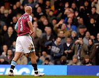 Photo: Alan Crowhurst.<br />Fulham v West Ham United. The Barclays Premiership. 23/12/2006. West Ham's Paul Konchesky is sent off for a challenge on Wayne Routledge.