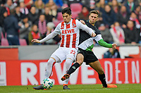 v.l. Jorge Mere (Koeln), Niclas Fuellkrug<br /> Koeln, 17.02.2018, Fussball Bundesliga, 1. FC Koeln - Hannover 96<br /> Köln<br /> Norway only