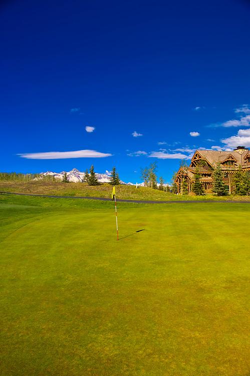 Telluride Mountain Village golf course, Telluride, Colorado USA