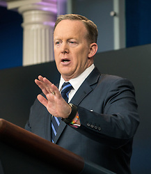 March 31, 2017 - Washington, District Of Columbia, District of Columbia, U.S - White House press secretary SEAN SPICER answers reporters questions during the daily press briefing at the White House. (Credit Image: © Ken Cedeno via ZUMA Wire)
