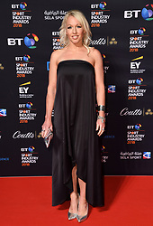 Gail Emms attending the BT Sport Industry Awards 2018 held at Battersea Evolution in Battersea Park, London. Photo credit should read: Doug Peters/EMPICS Entertainment