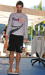 Adam Martin, Bow, WAKA Racing Team at the weigh-in. Photo:Chris Davies/WMRT