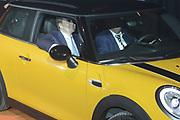 Koning Willem Alexander heropent VDL Nedcar. De autofabriek VDL Nedcar is omgebouwd en heringericht voor de productie van de nieuwe MINI in opdracht van BMW. <br /> <br /> King William Alexander reopens VDL Nedcar. The car factory VDL Nedcar has been converted and refurbished for the production of the new MINI commissioned by BMW.<br /> <br /> Op de foto / On the photo: <br />  Zijne Majesteit Koning Willem-Alexander samen met Wim van der Leegte, president-directeur VDL Groep, in de eerste MINI die bij VDL Nedcar in Born van de band rolde.<br /> <br /> His Majesty King Willem-Alexander together with Wim van der Void, president VDL Groep, the first MINI which rolled at VDL NedCar in Born of the band.