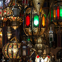 Africa, Morocco, Marrakech. Moroccan lights.