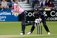 Adam Vogues smashes the ball for four runs during the NatWest T20 Blast South Group match between Gloucestershire County Cricket Club and Middlesex County Cricket Club at the Bristol County Ground, Bristol, United Kingdom on 15 May 2015. Photo by Alan Franklin.