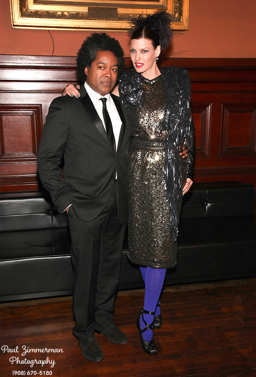 NEW YORK, NY - MARCH 17:  (L-R) Fred Powers and Linda Evangelista attend the Lycee Francais de New York 2012 gala at the Park Avenue Armory on March 17, 2012 in New York City.  (Photo by Paul Zimmerman/WireImage)