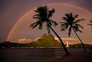 Double rainbow, Bora Bora, French Polynesia