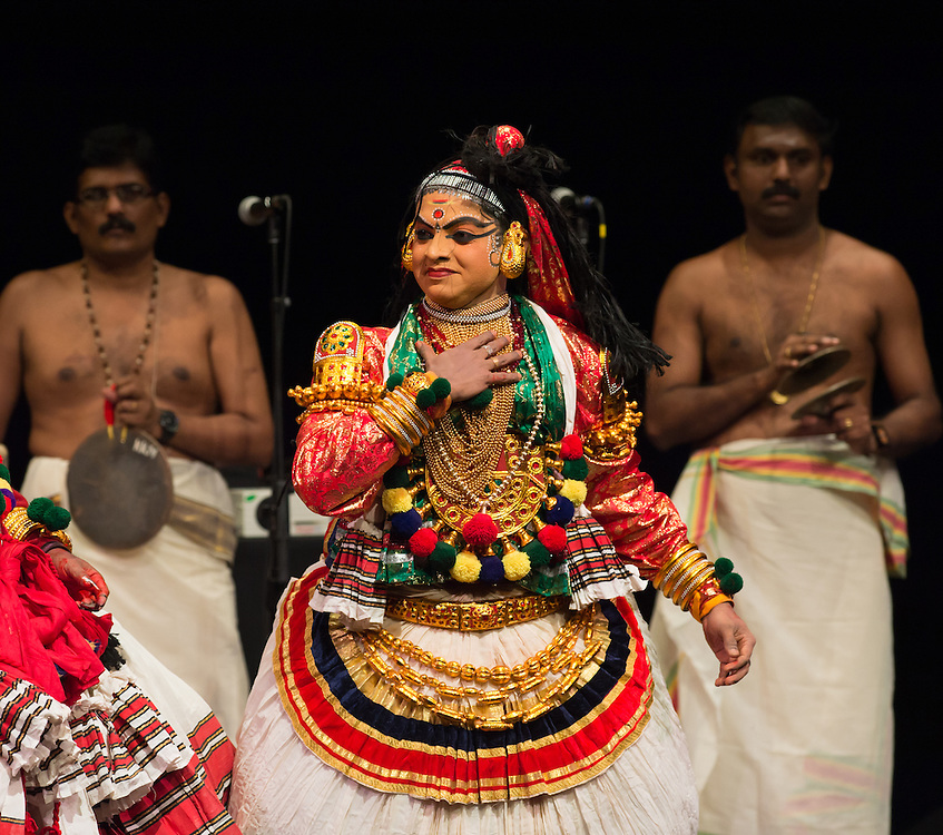 "Kalamandalam Anil Kumar as Draupadi, Kerala Kalamandalam Kathakali Troupe, ""Sounds of India"" Sunday, Oct. 30, 5 pm, Gerald W. Lynch Theater , part of Lincoln Center's White Light Festival"