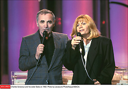 Charles Aznavour and his sister Seda in 1992. Photo by Lecoeuvre Phototheque/ABACA.