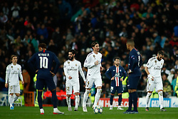 November 26, 2019, Madrid, MADRID, SPAIN: Karim Benzema of Real Madrid celebrates a goal during the UEFA Champions League football match, Group A, played between Real Madrid and Paris Saint-Germain at Santiago Bernabéu Stadium on November 26, 2019, in Madrid, Spain. (Credit Image: © AFP7 via ZUMA Wire)