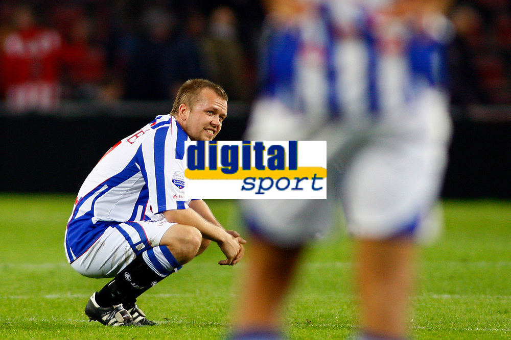 psv - heerenveen 17-10-2009 eindhoven 1 - 0<br /> <br /> christian grindheim en michal papadopulos na de wedstrijd