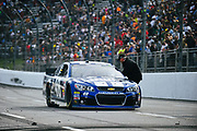 May 6, 2013 - NASCAR Sprint Cup Series, STP Gas Booster 500. Jimmie Johnson is congratulated by Rick Hendrick