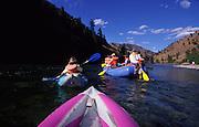 Kayaking, Middle Fork, Salmon River, Idaho<br />