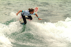 HUNTINGTON BEACH, CA - Bailey Nagy from the North Shore of Oahu won the ASP 2-Star Vans US Open Pro Junior in peaky one-to-three foot waves at Huntington Beach Pier. Bailey Nagy grabbed the lead early in the 30 minute final and held poll position throughout the heat's entirety despite the valiant efforts of fellow finalists Mahina Maeda (North Shore, Oahu), 16, Brianna Cope (Koloa, Kauai), 18, and Meah Collins (Newport Beach, CA), 14. The Vans US Open Pro Junior win marks the biggest victory of the young Hawaiian's career.  2014 Aug 2. Byline, credit, TV usage, web usage or linkback must read SILVEXPHOTO.COM. Failure to byline correctly will incur double the agreed fee. Tel: +1 714 504 6870.