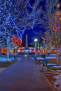 The Plaza, Santa Fe, New Mexico, USA.