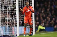 Goalkeeper Lee Grant of Stoke City looks on. Premier league match, Chelsea v Stoke city at Stamford Bridge in London on Saturday 31st December 2016.<br /> pic by John Patrick Fletcher, Andrew Orchard sports photography.