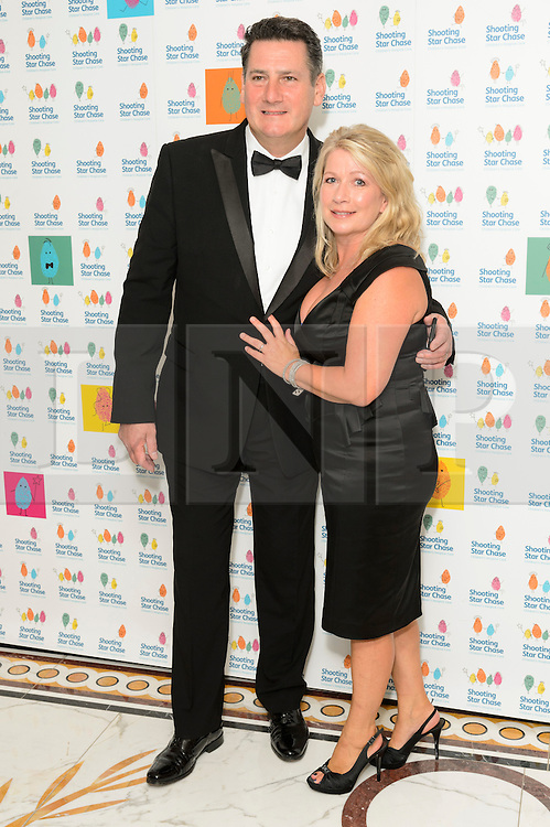 © Licensed to London News Pictures. 01/10/2016. TONY HADLEY and ALISON EVERS attend the annual Shooting Stars CHASE fundraising ball.  London, UK. Photo credit: Ray Tang/LNP