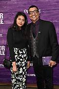 Premiere van The Color Purple in het NDSM theater, Amsterdam<br /> <br /> op de foto:  Jorgen Raymann met zijn dochter