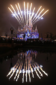 Fireworks And Light Show Rehearsal In Shanghai Disneyland