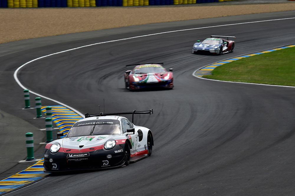 #93 Porsche GT Team Porsche 911 RSR: Patrick Pilet, Nick Tandy, Earl Bamber<br /> Saturday 16 June 2018<br /> 24 Hours of Le Mans<br /> 2018 24 Hours of Le Mans<br /> Circuit de la Sarthe  FR<br /> World Copyright: Scott R LePage