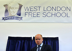 © licensed to London News Pictures. LONDON, UK.  09/09/11. Toby Young. London Mayor Boris Johnson joins Chair of Governors Toby Young to officially open the The West London Free School (WLFS). The WLFS is an 11-18 secondary school, which has been set up by a group of parents and teachers in Hammersmith. The school is led by headmaster Thomas Packer . Mandatory Credit Stephen Simpson/LNP
