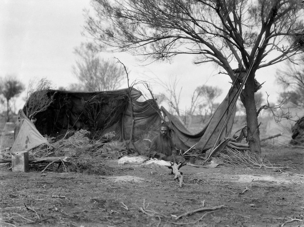 Aboriginal Camp, Central Australia, 1930