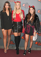Chloe Lewis, Chloe Meadows & Courtney Green, Kiss FM Haunted House Party 2016 - VIP Arrivals, The SSE Arena Wembley, London UK, 27 October 2016, Photo by Brett Cove