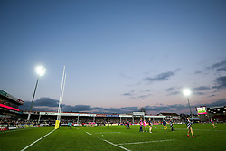 General View as Bristol Rugby warm up - Rogan Thomson/JMP - 03/12/2016 - RUGBY UNION - Kingsholm Stadium - Gloucester, England - Gloucester Rugby v Bristol Rugby - Aviva Premiership.