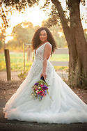Beautiful bride at sunset at the Maples in Woodland, CA