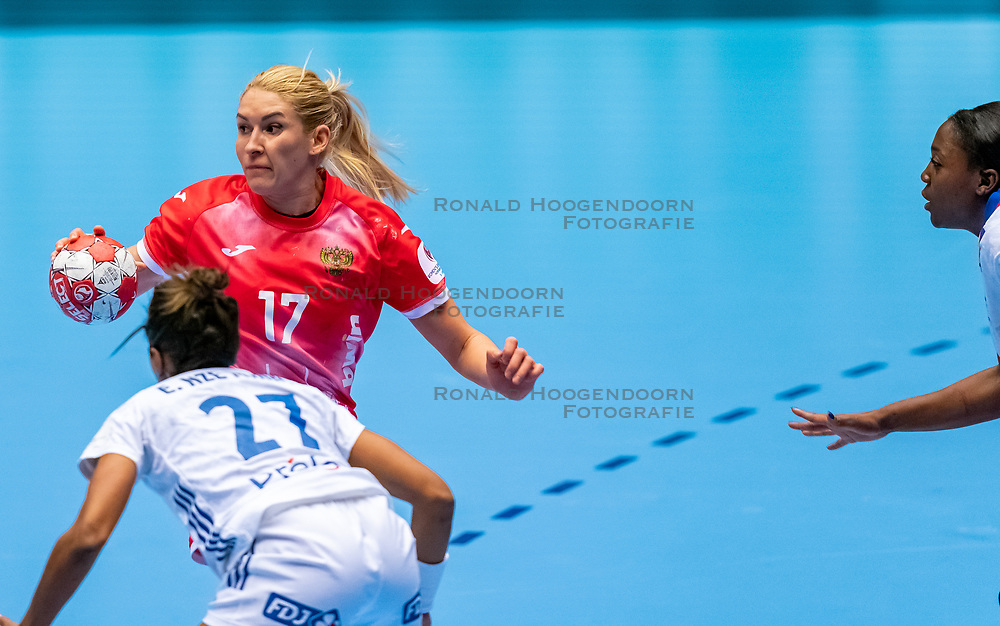 Vladlena Bobrovnikova of Russia  in action during the Women's EHF Euro 2020 match between France and Russia at Jyske Bank BOXEN on december 11, 2020 in Kolding, Denmark (Photo by RHF Agency/Ronald Hoogendoorn)