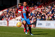 Scunthorpe United midfielder Funso Ojo (6) in action  during the EFL Sky Bet League 1 match between Scunthorpe United and Doncaster Rovers at Glanford Park, Scunthorpe, England on 23 February 2019.