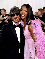 Pier Paolo Piccioli and Naomi Campbell attending the Metropolitan Museum of Art Costume Institute Benefit Gala 2019 in New York, USA.