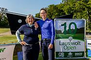 25-05-2019 Foto's van dag 2 van het Lauswolt Open 2019, gespeeld op Golf & Country Club Lauswolt in Beetsterzwaag, Friesland.<br /> Tweede en derde prijs professionals: Mette Hageman en Annemieke de Goederen