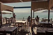 Greece, Koufonissi, restaurant by the sea