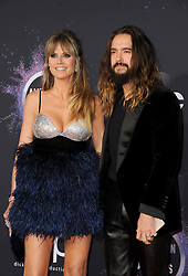 Heidi Klum and Tom Kaulitz at the 2019 American Music Awards held at the Microsoft Theater in Los Angeles, USA on November 24, 2019.