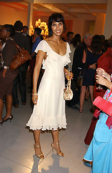 PADMA LAKSHMI at a party to celebrate the publication of 'Shalimar The Clown' by Salman Rushdie, held at the David Gill Galleries, 3 Loughborough Street, London SE11 on 7th September 2005.<br />