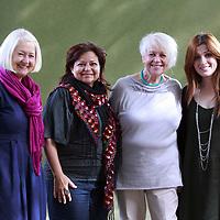 Christine de Luca, Maya Abu al-Hayat, Liz Lochhead and Zuhair Abu Shaib at Edinburgh International Book Festival 2014 <br /> 18th August 2014<br /> <br /> Picture by Pako Mera/Writer Pictures<br /> <br /> WORLD RIGHTS