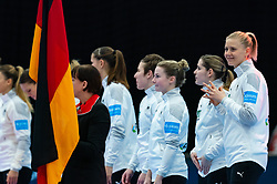 Line up with Kim Naidzinavicius of Germany during the Women's EHF Euro 2020 match between Germany and Poland at Sydbank Arena on december 07, 2020 in Kolding, Denmark (Photo by RHF Agency/Ronald Hoogendoorn)