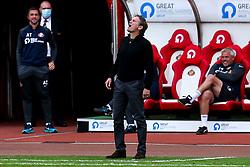 Sunderland manager Phil Parkinson cuts a frustrated figure - Mandatory by-line: Robbie Stephenson/JMP - 12/09/2020 - FOOTBALL - Stadium of Light - Sunderland, England - Sunderland v Bristol Rovers - Sky Bet League One