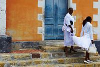 France, Martinique, Les Trois-Ilets, l'église Notre-Dame-de-la-Délivrance, jour de comunion // France, Martinique, Les Trois-Ilets, Notre-Dame-de-la-Délivrance church