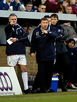 Photo: Jed Wee.<br />Bradford City v Swansea City. Coca Cola League 1. 14/01/2006.<br />Bradford manager Colin Todd tries to urge his players forward.