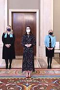 022421 Queen Letizia attends audiences at Zarzuela Palace