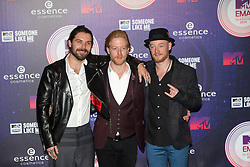 Simon Neil, Ben Johnston and James Johnston of Biffy Clyro. Red carpets arrivals at the MTV EMA's 2014 at The Hydro on November 9, 2014 in Glasgow, Scotland.