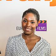 NLD/Amsterdam//20170419 - Castpresentatie film Gek op Oranje, Belinda, van der Stoep