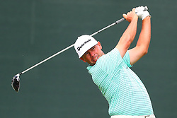August 25, 2018 - Paramus, NJ, U.S. - PARAMUS, NJ - AUGUST 25:  Chez Reavie of the United States plays his shot from the first tee  during the third round of The Northern Trust on August 25, 2018 at the Ridgewood Championship Course in Ridgewood, New Jersey.   (Photo by Rich Graessle/Icon Sportswire) (Credit Image: © Rich Graessle/Icon SMI via ZUMA Press)