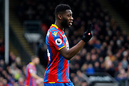 Timothy Fosu-Mensah of Crystal Palace looks on. Premier League match, Crystal Palace v Newcastle Uutd at Selhurst Park in London on Sunday 4th February 2018. pic by Steffan Bowen, Andrew Orchard sports photography.