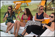 ARICIAN LAMBIS; TAMASEA LAMBIS; ( PINK ) JESSICA MEYRICK, ( STIPES ) 2004 Veuve Clicquot Gold Cup Final at Cowdray Park Polo Club, Midhurst. 20 July 2014
